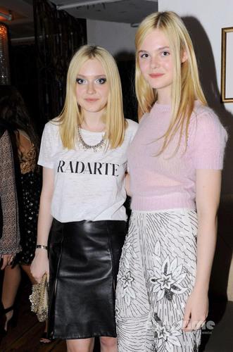 Dakota and Elle Fanning: Rodarte Показать during MBFW, Sep 13