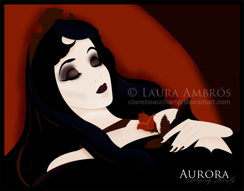 Dark Princess Art Dark Aurora Disney-princess
