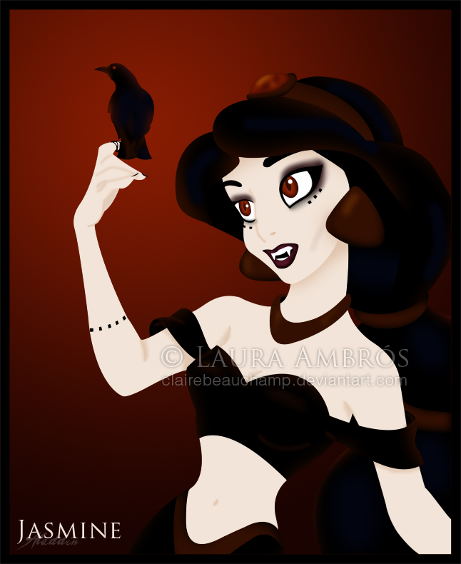 Dark Princess Art Dark Jasmine Disney-princess