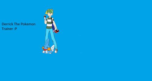 Derrick as a pokemon trainer!