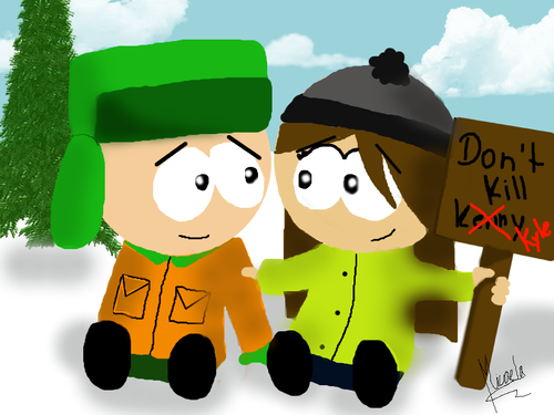 South Park Hintergrund entitled Don't kill Kyle! X3