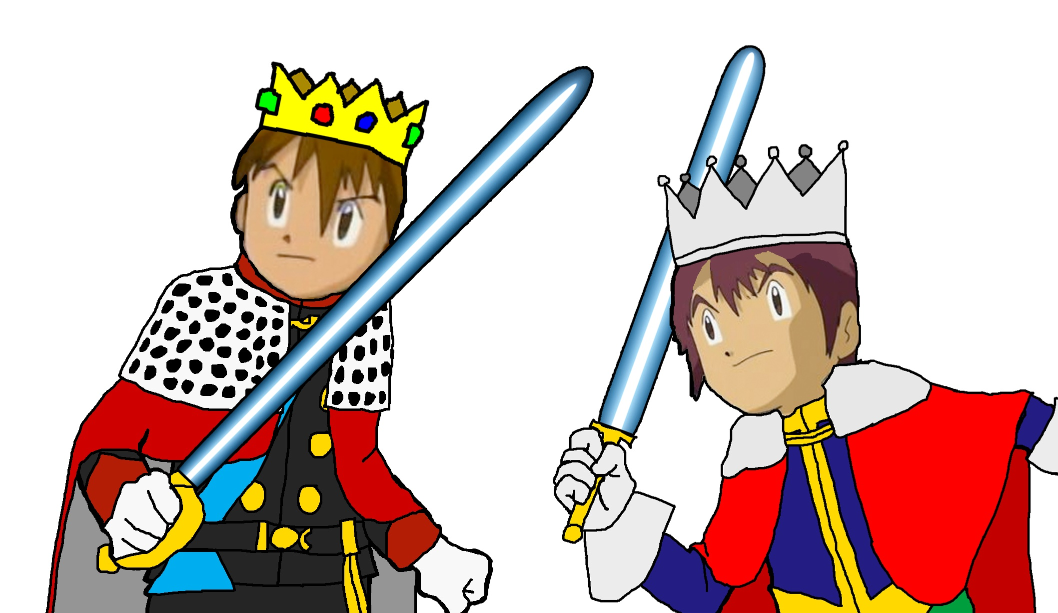 Digimon Emperor Tai and Prince Davis