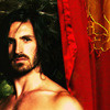 Merlin on BBC photo possibly with a portrait entitled Eoin Macken