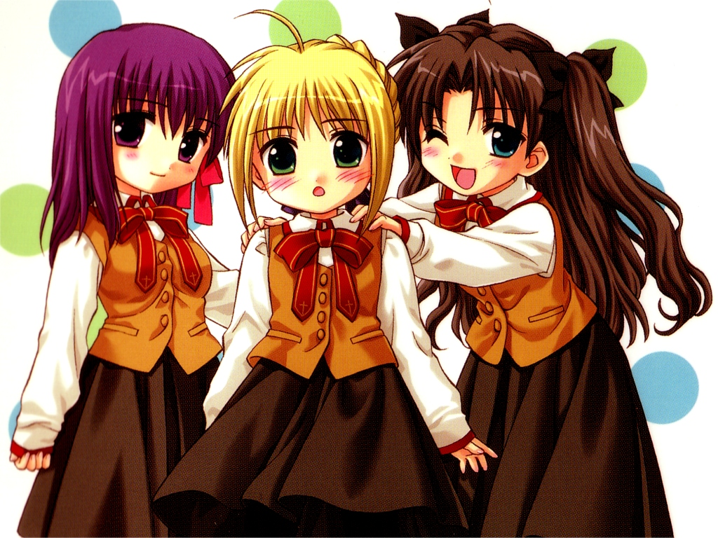 Anime Characters Are Japanese : Fate stay night wallpaper