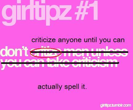 Gender Rules and Tips, according to tumblr