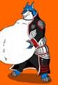 Gin-Sama as a fat loup