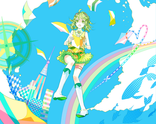 Gumi (Vocaloids) fondo de pantalla containing anime titled Gumirumi