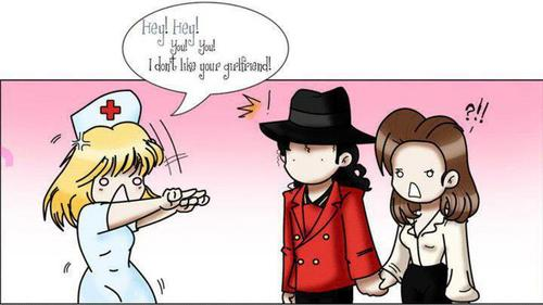 Hahaha - michael-jackson-and-lisa-marie Fan Art