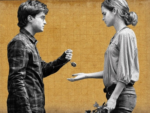 Harry and Hermione 壁纸