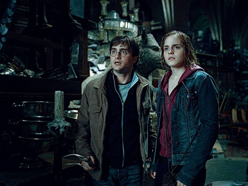 Harry and Hermione wolpeyper