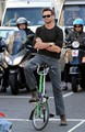 Hugh Jackman on a Folding Bike - hugh-jackman photo