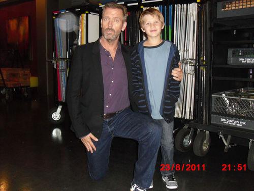Hugh Laurie and Niko Baur