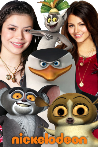 Image for your Ipod!! The penguins, lemurs, Tori and Carly!