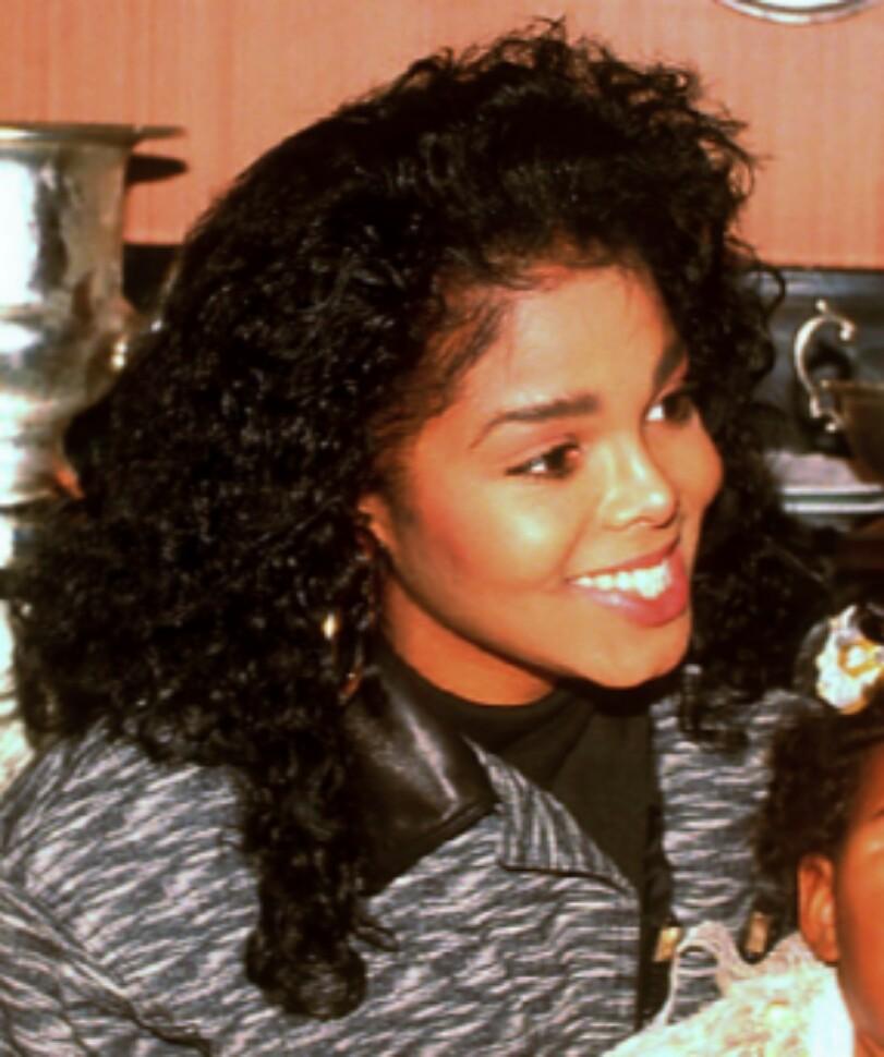 Janet Jackson 80s Hair