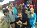Justin,selena & debby ryan :)