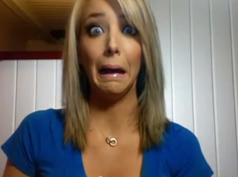 JennaMarbles' Weird face.