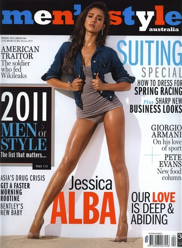 Jessica Alba wallpaper containing a portrait entitled Jessica - Magazine Scans from 2011 - Mens Style (AU) - Spring