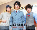 Jonas Brothers backdtage 2008 - the-jonas-brothers wallpaper