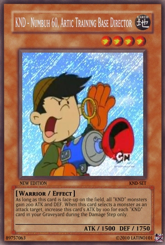 Codename: Kids 下一个 Door 壁纸 called KND Yu-Gi-Oh-Cards