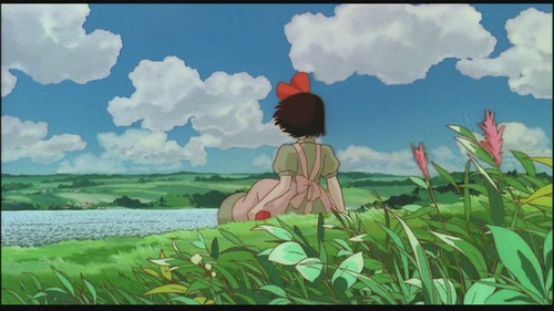 Hayao Miyazaki fondo de pantalla probably containing a grainfield entitled Kiki's Delivery Service