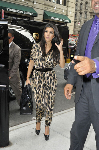 Kourtney Kardashian in NYC