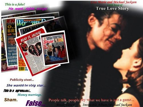 LMP & MJ  - michael-jackson-and-lisa-marie Fan Art
