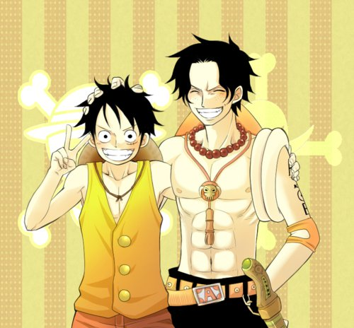 One Piece achtergrond containing anime titled Luffy & Ace