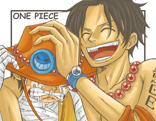 One Piece wallpaper containing anime entitled Luffy & Ace