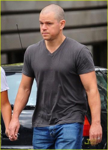Matt Damon: Jake Gyllenhaal Bald Envy!