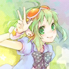 Gumi (Vocaloids) foto possibly containing anime entitled Megpoid Gumi iconos
