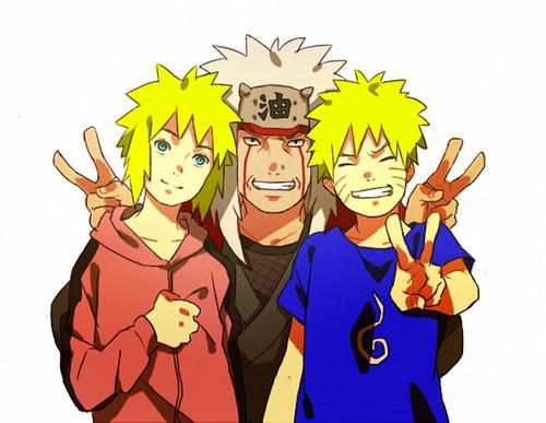 Minato, Naruto, & Jiraiya