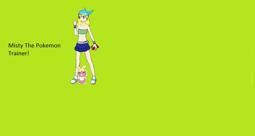 Misty as a pokemon trainer!