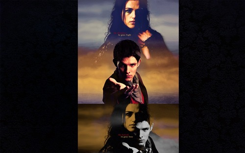 Morgana & Merlin - merlin-on-bbc Wallpaper