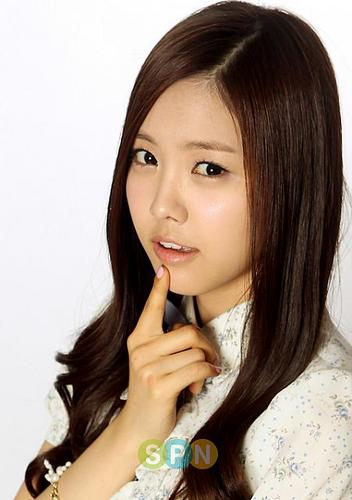 Korea Girls Group A Pink wallpaper containing a portrait called NaEun