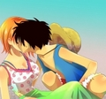 Nami's morning kiss - luffyxnami photo