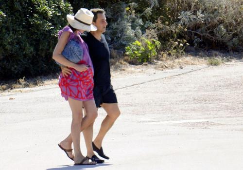 Nicolas Sarkozy and Carla Bruni on Vacation