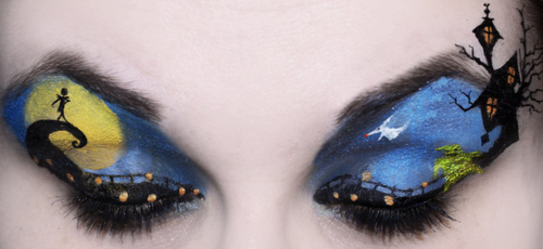 Nightmare Before Weihnachten Eye Makeup Art