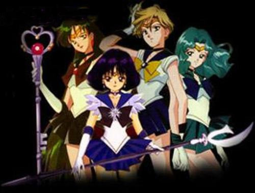 Sailor Moon fond d'écran possibly containing animé titled Outer senshi