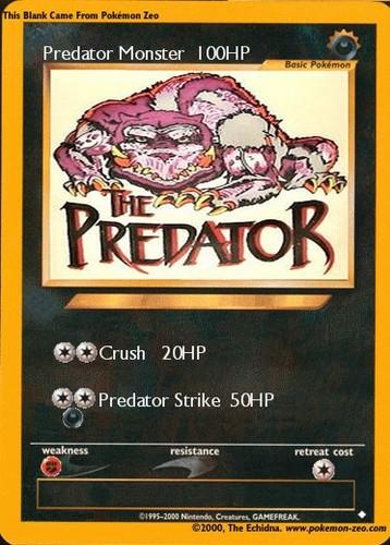 Predator Monster Pokemon Card