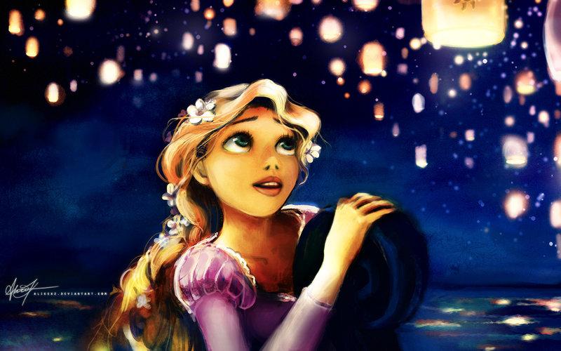 Rapunzel candles