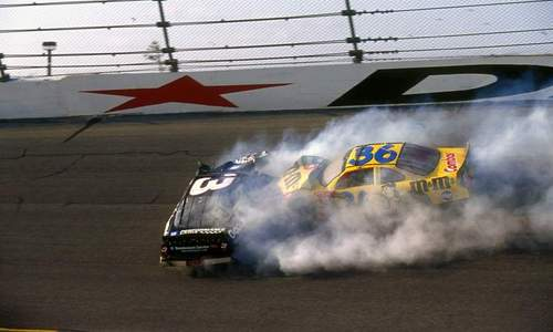 Rare pic of the crash - dale-earnhardt-sr Photo