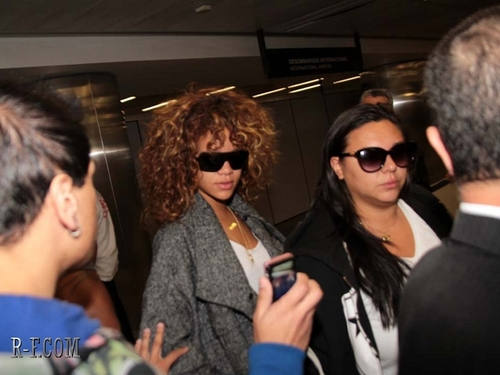 Рианна - At the airport in Sao Paulo - September 16, 2011