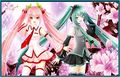 Miku Hastune and Luka Megurine
