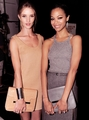 Rosie Huntington-Whiteley and Zoe Saldana at the Michael Kors show.   - zoe-saldana photo