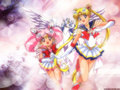 Sailor Moon, sailor Чиби moon and Pegasus