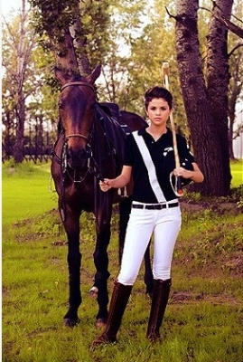 Selena with a horse