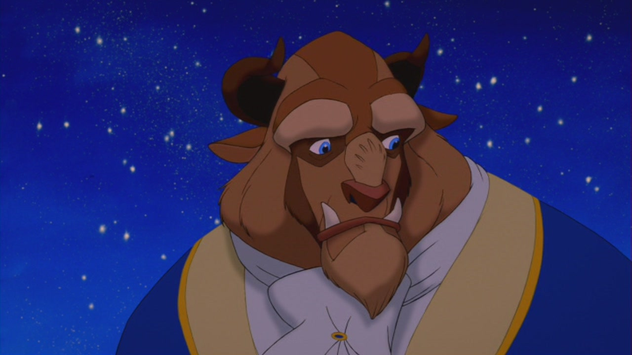 the beauty of the beast in Beauty and the beast has all the markings of a traditional disney movie it's cute,  corny and as over-the-top as it can be there are moments.