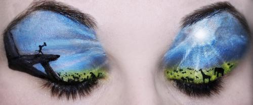 The Lion King Eye Makeup Art