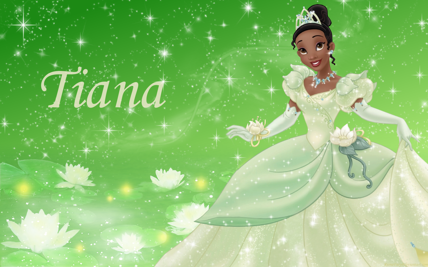 It is a graphic of Vibrant Picture of Tiana