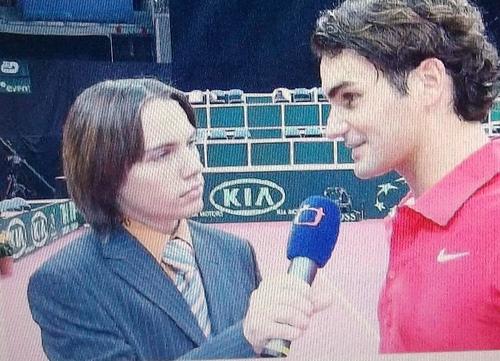 Tomas Budka and Roger Federer